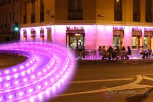 LED Strip Light over Outdoor Restaurant