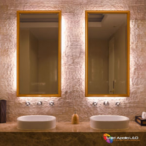 Bathroom Accent Lighting using the Waterproof RGB+Daylight White LED Strip.