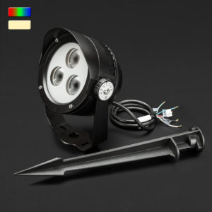 Beamer RGB + Warm White Dimmable LED Landscaping 12W Light with Stake