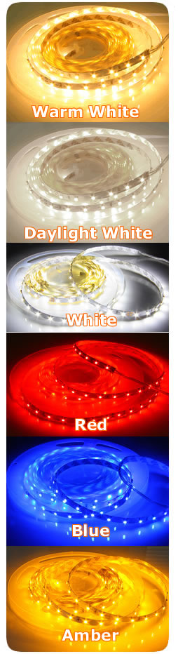 LED Strip Pictures Color Comparison