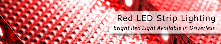 Red LED Strip Banner