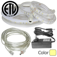 Waterproof Warm White LED Strip Kit