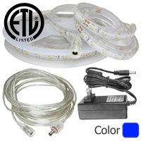 Waterproof Blue LED Strip Kit