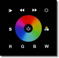 Black IN-WALL DMX RGB-W LED Controller