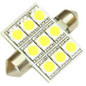 36mm Xenon White Festoon 9 SMD
