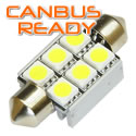 36mm Xenon White Festoon  6 SMD