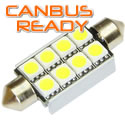 41mm Xenon White Festoon 8 SMD