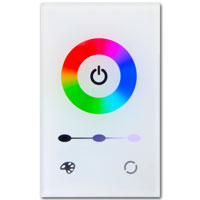 White Glass Touch In-Wall RGB Controller