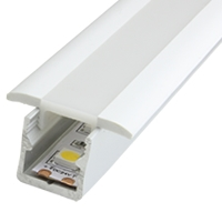 Mini 15 Opal Recessed LED Strip Profile