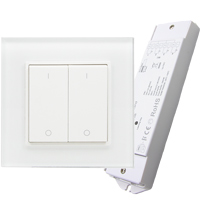 Gecko Wireless Two Zone LED Wall Dimmer