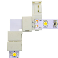 8mm Snap&Lite LED Strip L Connector