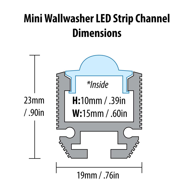 78 u0026quot  mini wallwash led strip channel