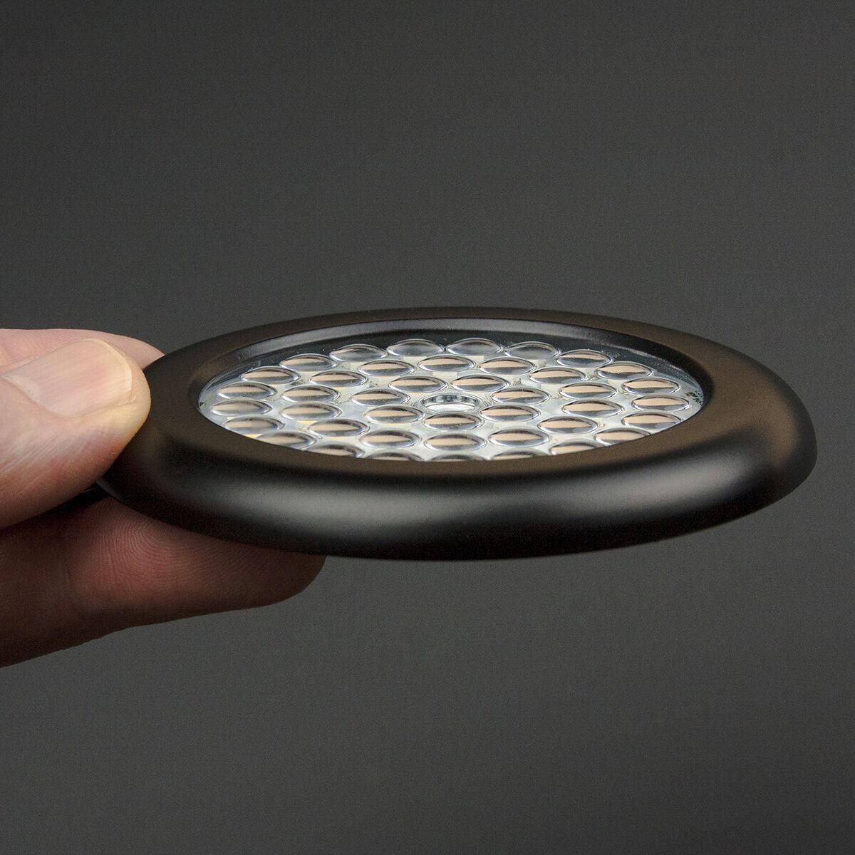 Warm White Premium LED Puck Black Body