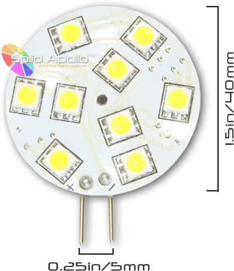 Xenon White LED Car G4 9-SMD