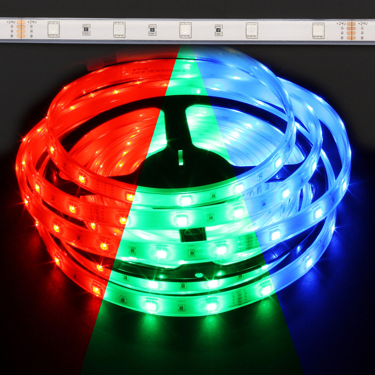 Color Changing Led Light Strips: 12V Waterproof Color Changing RGB LED Strip