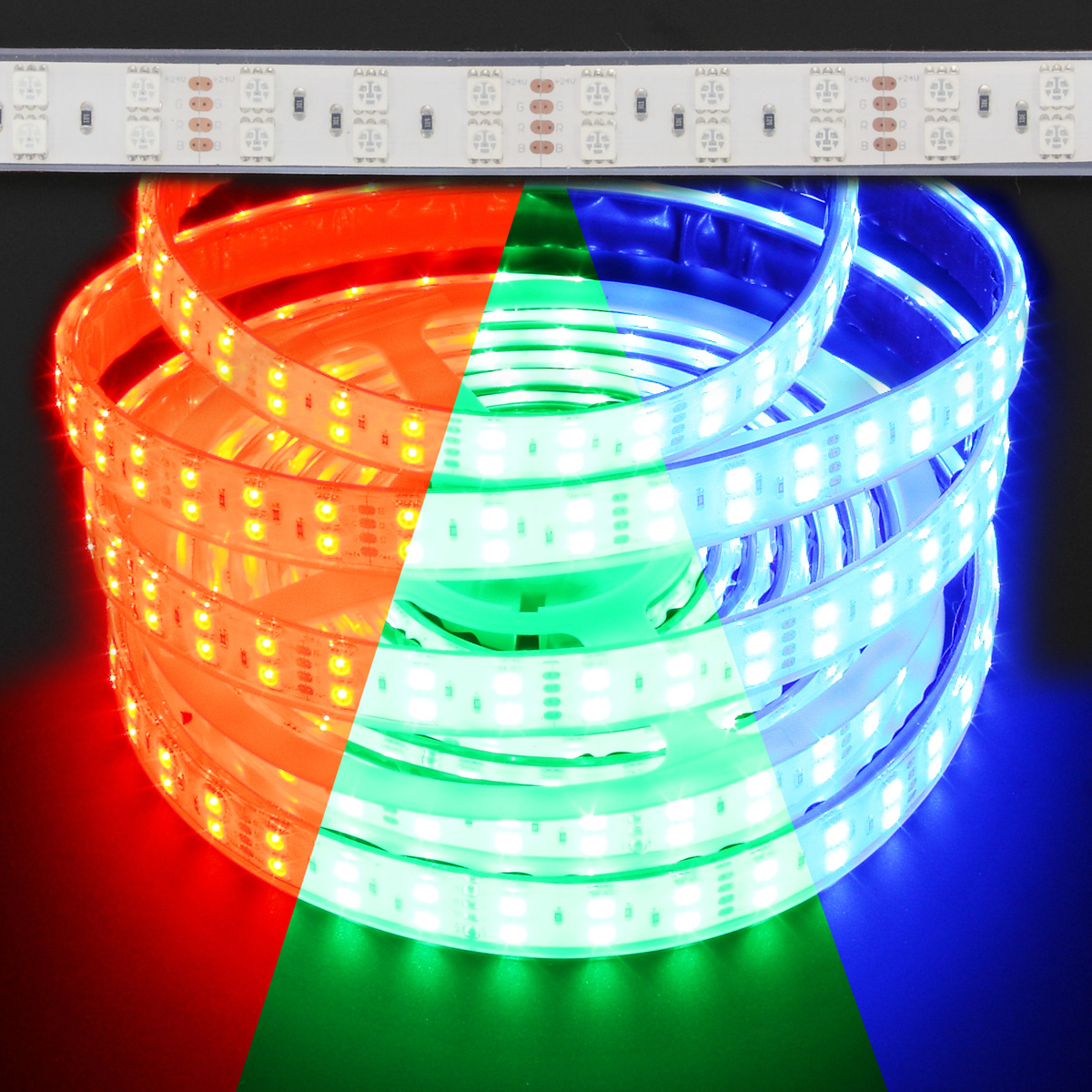 Waterproof Double Row Color Changing Rgb 5050 144w Led